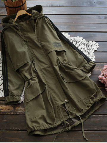 Shops Hooded Drawstring Field Trench Coat ARMY GREEN L