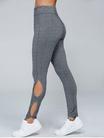 Chic High Waisted Cut Out Leggings
