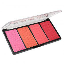 4 Colours Blush Shadow Makeup Palette Kit - 01