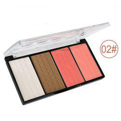 4 Colours Blush Shadow Makeup Palette Kit - 02
