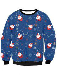 Christmas Snow Sweatshirt - DEEP BLUE XL