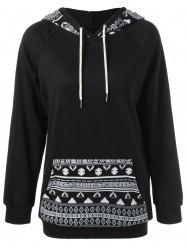 Single Pocket Tribal Trim Hoodie