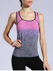 Space-Dyed Racer Back Ombre Tank Top -