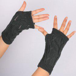 Branch Pattern Crochet Fingerless Gloves