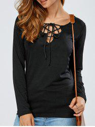 Slimming Adjustable Lace-Up T-Shirt -