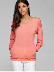 V Neck Long Sleeve T-Shirt