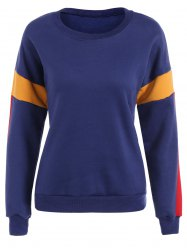 Color Block Thickening Sweatshirt -