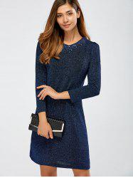 Glitter Beading Sheath Dress
