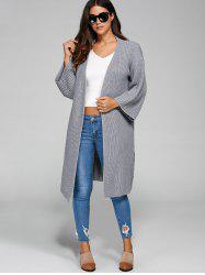Longline Open Cardigan - GRAY