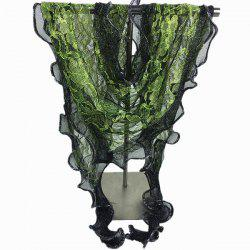 Banquet Wave Edge Flower Trim Lace Triangle Scarf