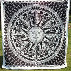 Casual Sun God Totem Square Scarf