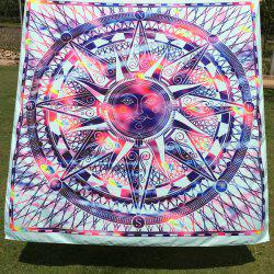 Casual Colorful Sun God Totem Square Scarf - BLUE