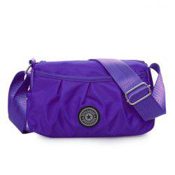 Nylon Wrinkle Zipper Crossbody Bag