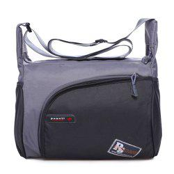 Zippers Colour Spliced Nylon Shoulder Bag
