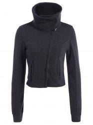 Inclined Zipped Pockets Sweatshirt -