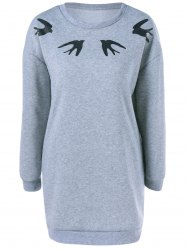 Swallow Shift Dress - GRAY XL