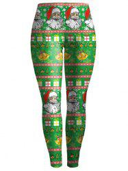 Bodycon Christmas Leggings - GREEN S