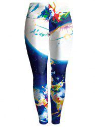 Snowman Bodycon Chrismas Leggings - Multicolore