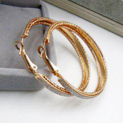 Dull Polished Circle Hoop Earrings