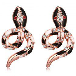 Rhinestone Snake Earrings -