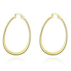 Alloy Water Drop Hoop Earrings