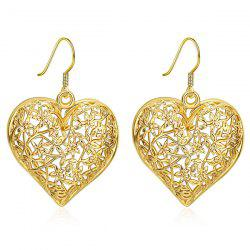 Filigree Floral Heart Drop Earrings