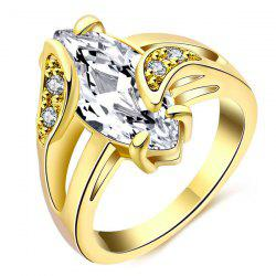 Oval Faux Diamond Ring -