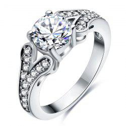 Artificial Diamond Rhinestone Engagement Ring