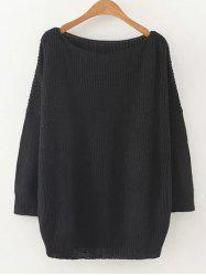 Casual Sweater en vrac - Noir