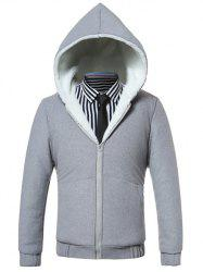 Hooded Fleece Zip-Up Hoodie -