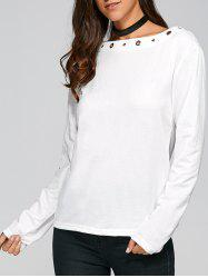 Long Sleeve Slash Neck T Shirt