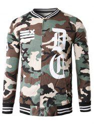 Button Up 99 Print Camouflage Jacket