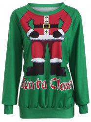 Santa Clause Pullover Sweatshirt - GREEN XL