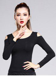 Cold Shoulder Long Sleeve Fitted Tee