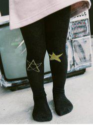 Star Printed Fleece Lined Tights -