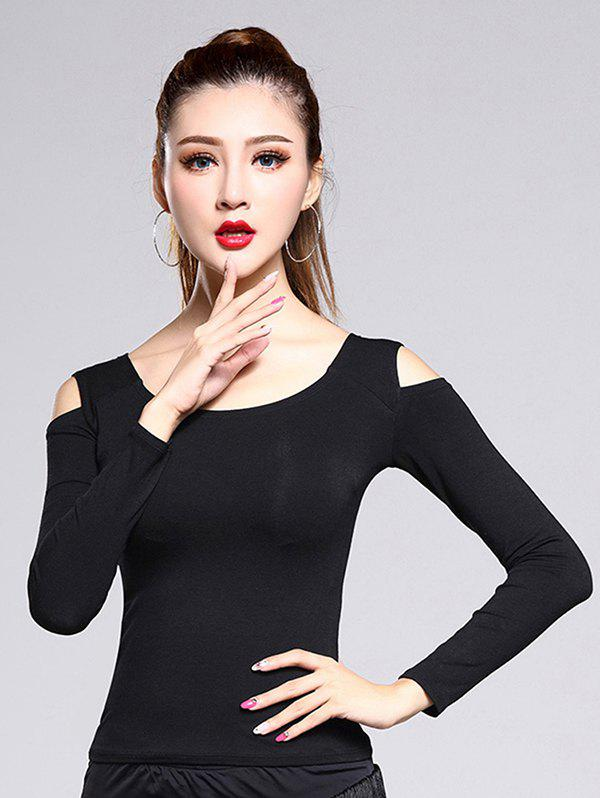Sale Cold Shoulder Long Sleeve Fitted Tee