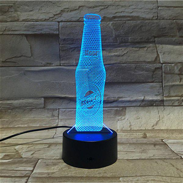 Cheap 3D Visual Beer Color Changing Party Atmosphere Night Light