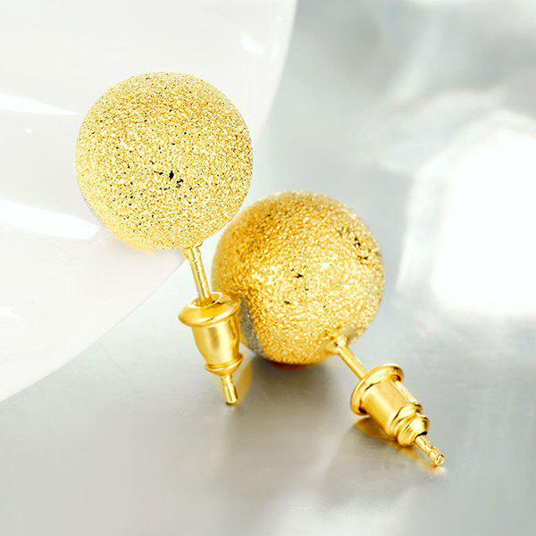 Bead Ball Stud EarringsJEWELRY<br><br>Color: GOLDEN; Earring Type: Stud Earrings; Gender: For Women; Style: Classic; Shape/Pattern: Ball; Weight: 0.030kg; Package Contents: 1 x Earring (Pair);