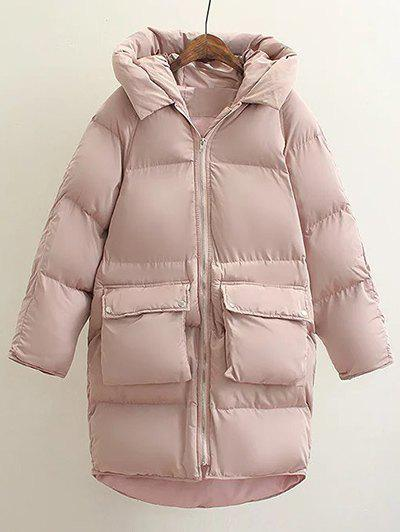 Hot Hooded Double Pocket Down Coat