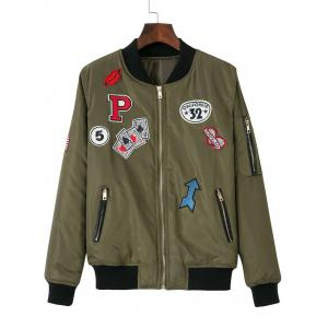 Zip-Up Patched Jacket