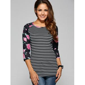 Raglan Sleeve Striped T Shirt
