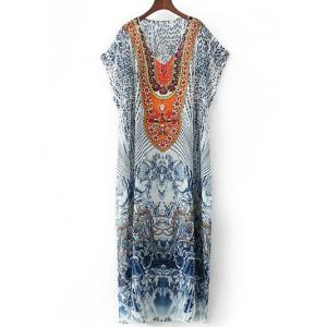 Rhinestoned Vintage Maxi Dress