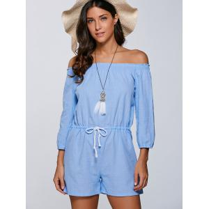 Drawstring Off The Shoulder Romper