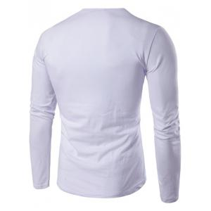 Slim-Fit Round Neck Long Sleeve T-Shirt