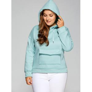Pocket Thickening Hoodie - Blue Green - M