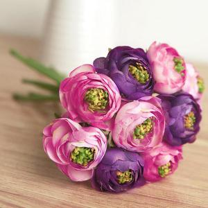 1 Bouquet Home Decor Wedding Bride Artificial Flower Bud - Purple - No.05