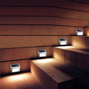 LED Solar Garden Lights Outdoor Decorative Waterproof Courtyard Wall Lamp - Colormix - 7cm
