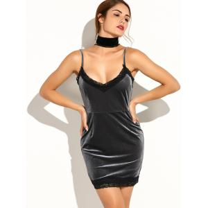 Spaghetti Straps Lace Bodycon Party Dress