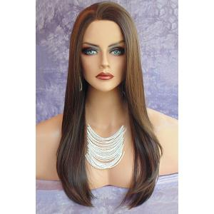Long Natural Straight Colormix Synthetic Wig