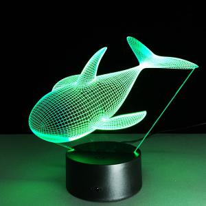 Colorful 3D Visual Dolphin Shape LED Night Light